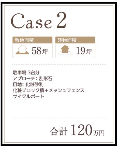お庭プランニング価格事例 case2